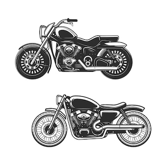 Black and white motorcycles