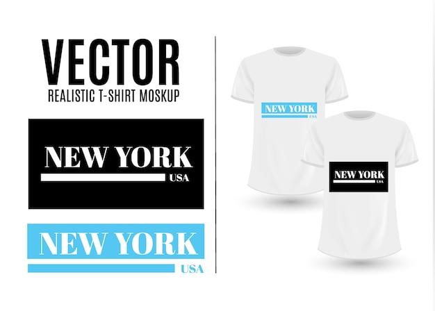 Black and white new york usa graphic fashion label