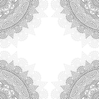 Black and white ornamental pattern.