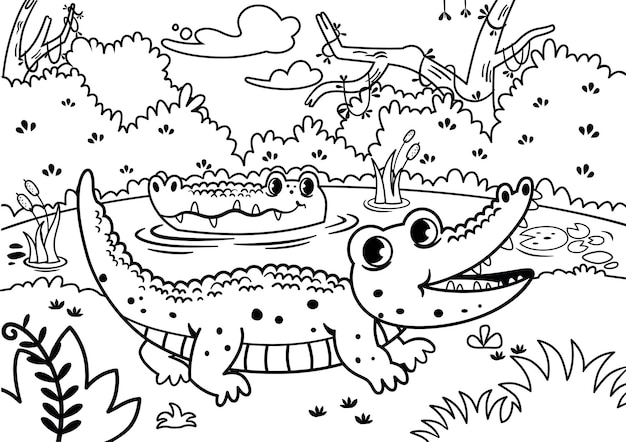 Black and white painting activity for children vector illustration