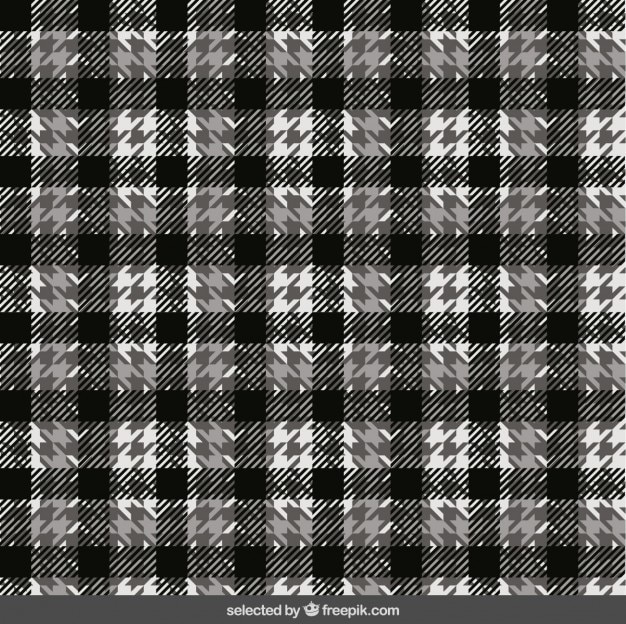 Black and white plaid pattern