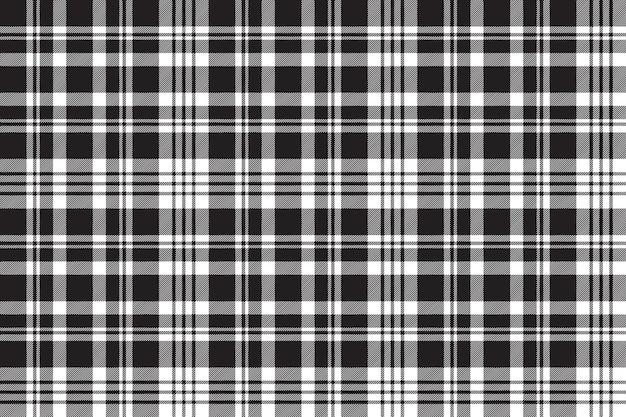 Black white plaid sreamless pattern