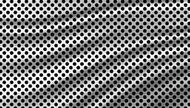Black and white polkadot background template.