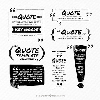 Black and white quote template
