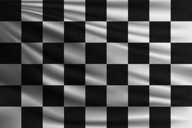 Black and white racing flag.