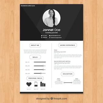 Curriculum Vitae Design Vector Free Download