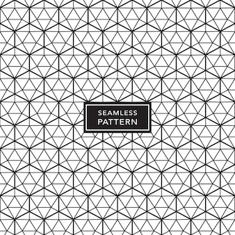 Black and white seamless geometric pattern background. vector illustration.