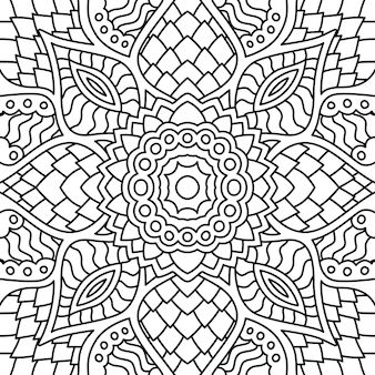 Black and white seamless pattern for coloring book