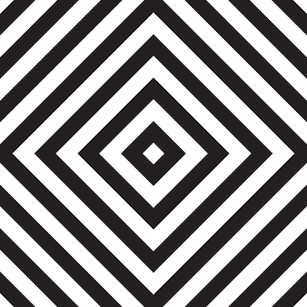 Black and white seamless pattern with square zigzag