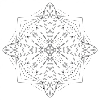 Black and white shapes for coloring book