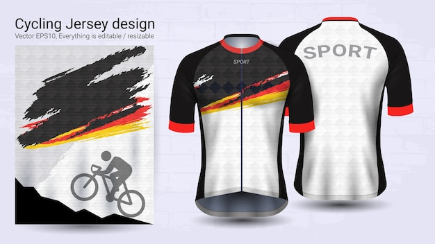Black and white short sleeve sport mockup template