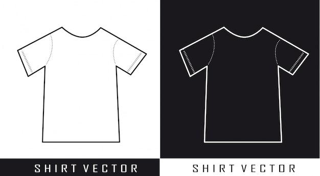 Black and white silhouette shirt vector illustration