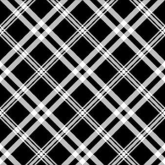 Black white simple check plaid seamless pattern