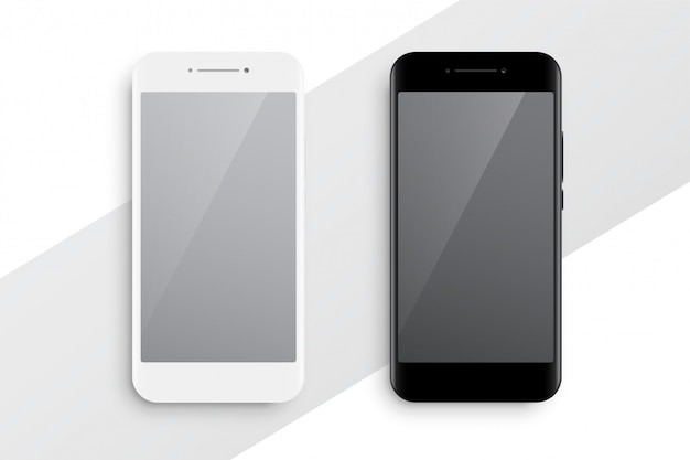 Black and white smartphone mockup