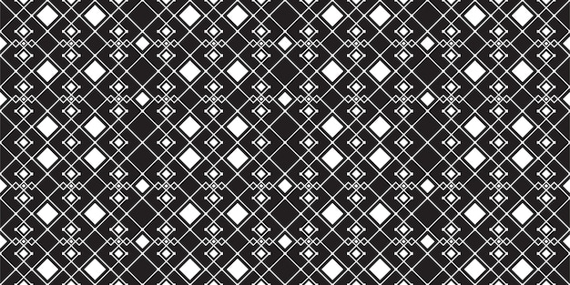 Black and white square minimal vintage seamless pattern vector template