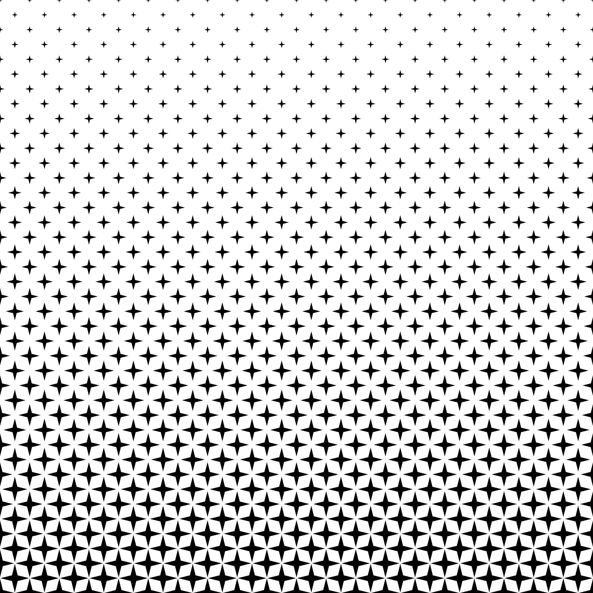 Black white star pattern - background graphic