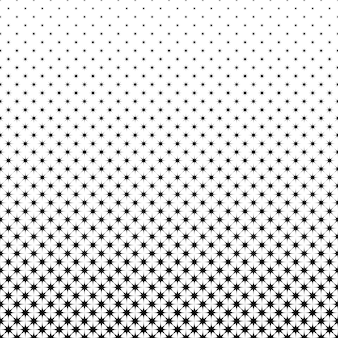 Black and white star pattern - geometrical vector background illustration from octagrams