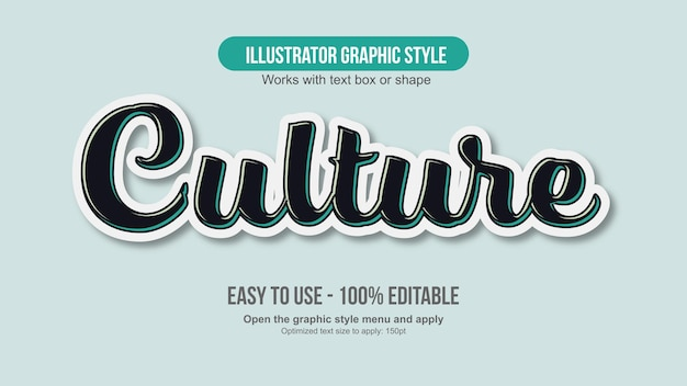 Black and white sticker style text effect