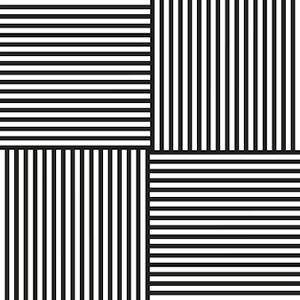Black and white stripes in different directions vector background