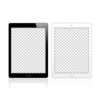 Black and white tablet pc computers for mockup and template