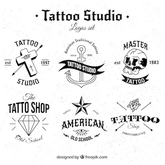Black and white tattoo collection