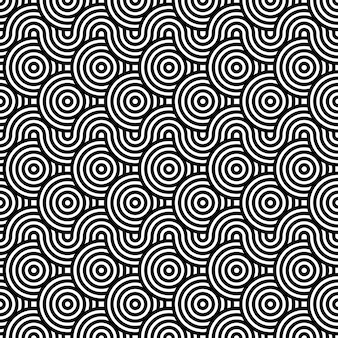 Black and white textured seamless pattern background. repeating round circle