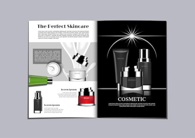 Black and white theme magazine