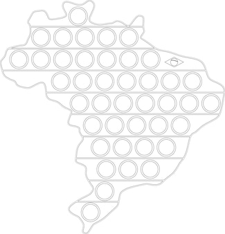 Черно белая игрушка антистресс эскимо brazil contur funny pop it сенсорная игрушка для непосед