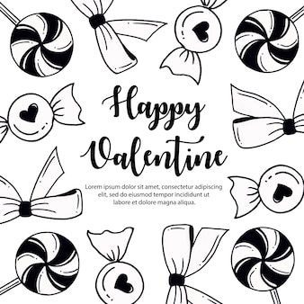 Black and white valentine elements background