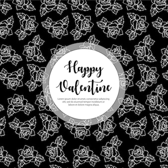 Black and white valentine pattern background
