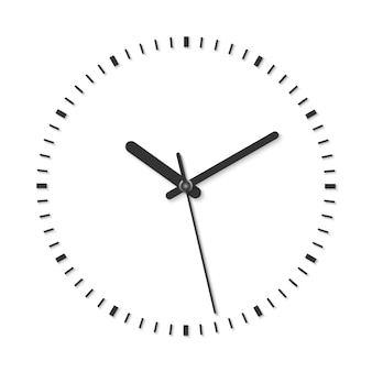 Black and white vector illustration of vintage analog clock