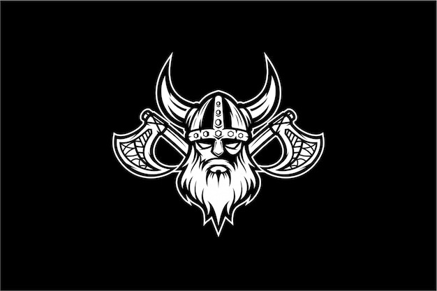 Black and white viking vector