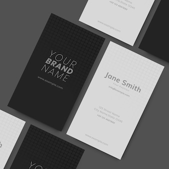 Black and white visit cards