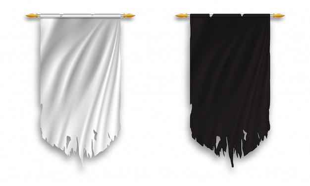 Black and white wall hanged pennant