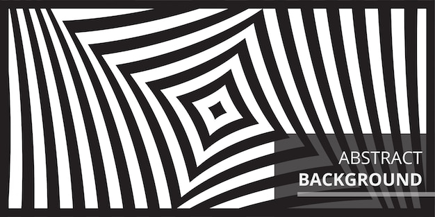 Black and white wave optical art background