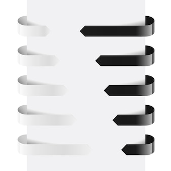 Black and white web arrows. illustration on white background