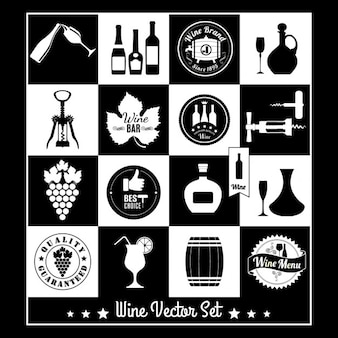Black and white wine labels
