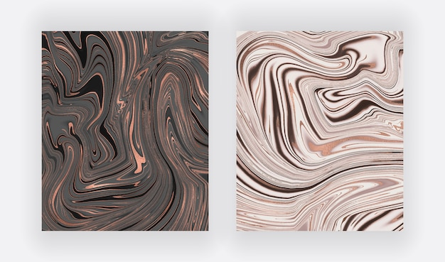 Black and white with foil liquid ink painting abstract backgrounds.