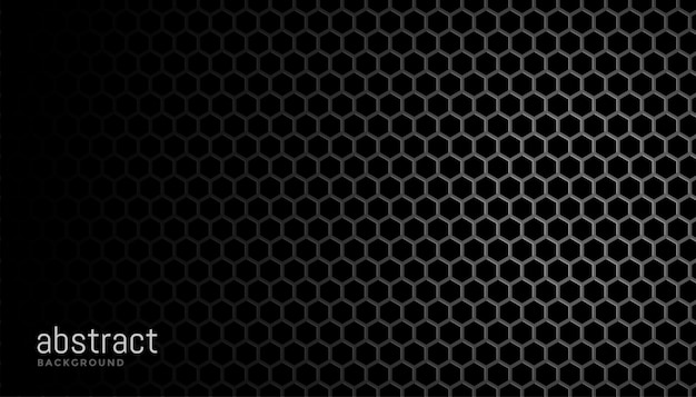 Black  with hexagonal mesh textur