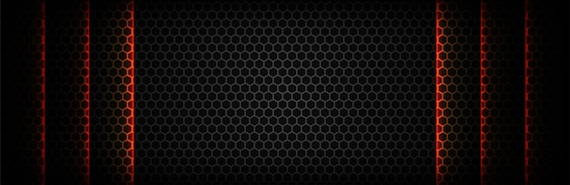 Black with hexagonal mesh texture background