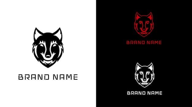 黒オオカミのロゴ