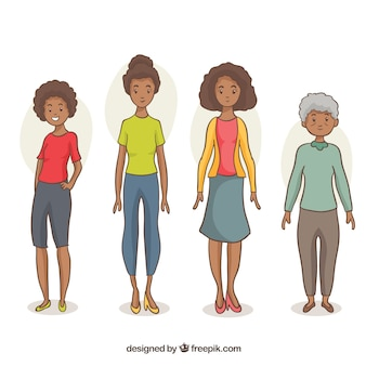 Black women collection in different ages