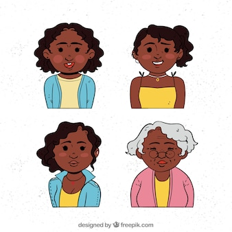 Black women in different ages