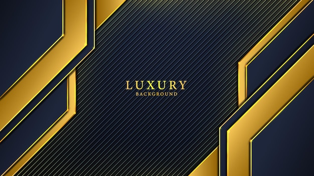 Black and yellow abstract luxury background design