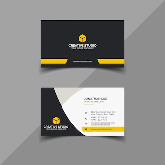 Black and yellow business card design