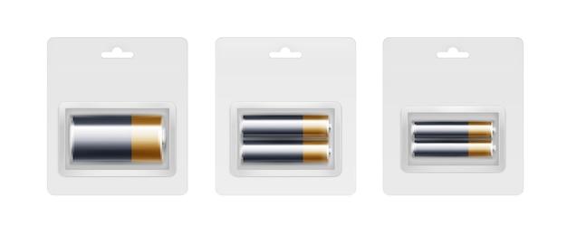 パックされたブラックイエローゴールデンアルカリ電池