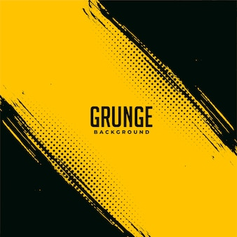 Black and yellow grunge abstract background design