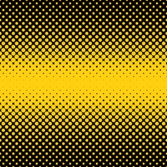 Black and yellow halftone dots backgorund