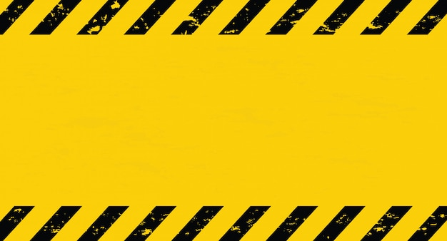 Black and yellow line striped. caution tape. blank warning background.