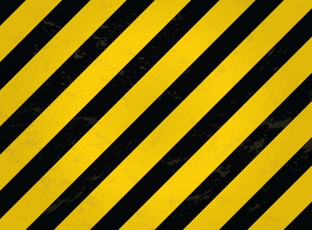 Black and yellow line striped. grunge warning striped background.